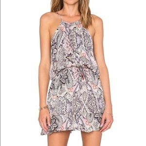 Parker Nathan Paisley Print Silk Summer Dress